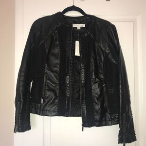 New York & Company Faux Leather Jacket